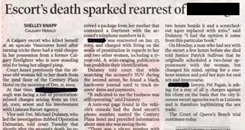 Escort's death caused rearrest