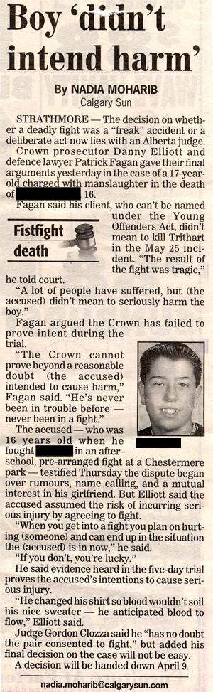 Boy didn't intend harm