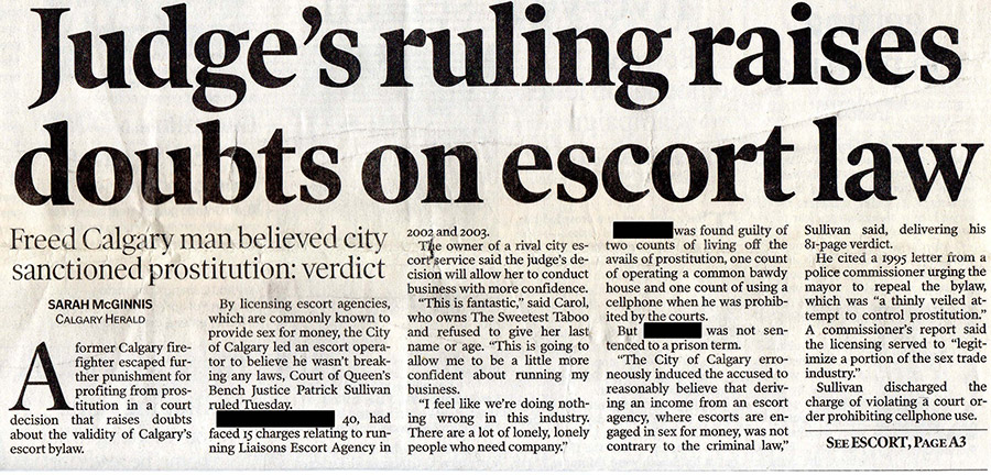Judge's ruling raises doubts on escort law