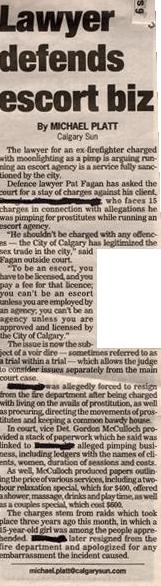 Lawyer defends escort biz