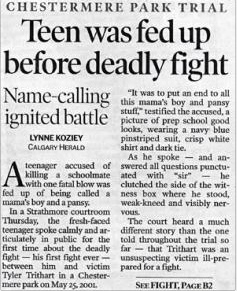 Teen was fed up before deadly fight